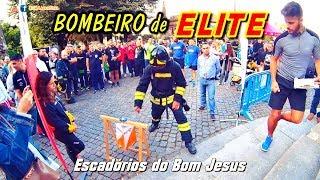 A Subida de um Bombeiro de Elite! Prova Esforço! II Edição Bombeiro de Elite - Escadórios Bom Jesus