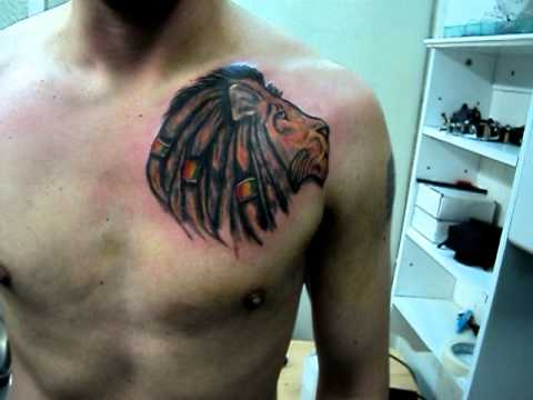 Leon Rastafari Tattoo Leon Of Judah Tatuajes Osorno Youtube