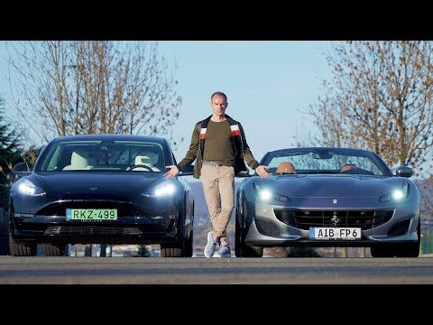 TESLA MODEL 3 PERFORMANCE VS FERRARI PORTOFINO