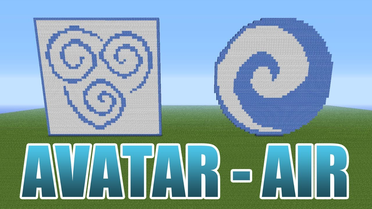 Avatar the last airbender air pixel art minecraft youtube avatar the last airbender air pixel art minecraft biocorpaavc Image collections