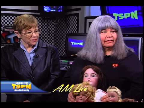 Jackson Women's Club, antique doll collector Diane Southworth on AM Live TSPN TV 2-15-13