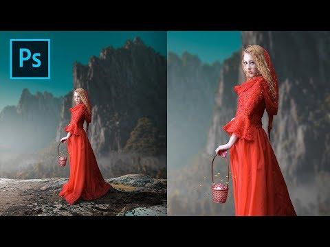 Red Dress Photoshop Manipulation Tutorial Processing thumbnail