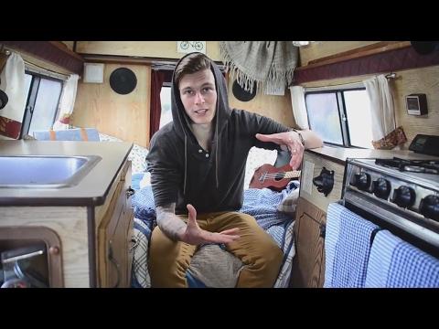 VAN LIFE TOUR :: Vegan Van living full time In a 1986 dodge Ram Camper van in Canada.