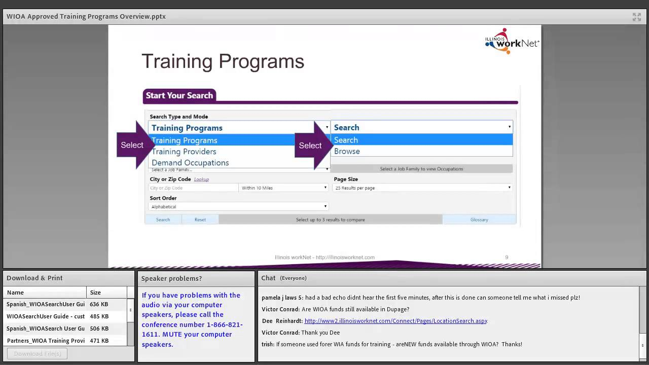 Training & Credentials WIOA Approved Training Programs Search