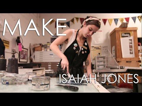 MAKE Video Series Featuring Atlanta Printmaker And Artist Isaiah Jones