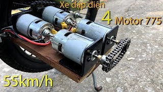 How to Make Electric Bike using 775 motor 4