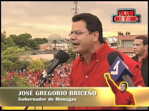 El Club de Fans de el Gato Briceño Gobernador del estado Monagas