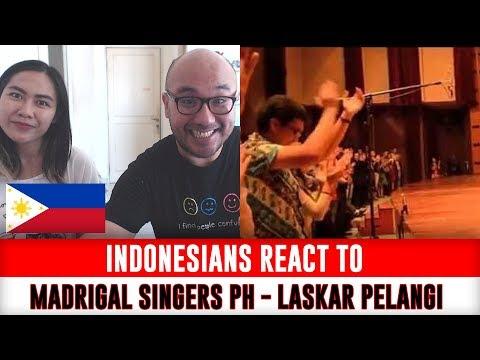 Indonesians React To Madrigal Singers Philippines performing LASKAR PELANGI (Nidji)