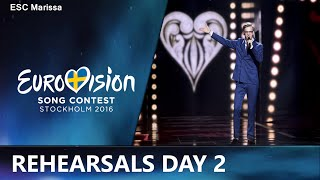 Eurovision 2016 Rehearsals Day 2 l MY TOP 10(Welcome to my Top 10 of the second rehearsals, day two. This video includes the rehearsals of Czech Republic, Cyprus, Austria, Estonia, Azerbaijan, ..., 2016-05-03T18:38:23.000Z)