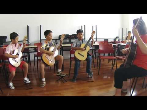 Asociacion Suzuki Del Peru Guitar Students Play Carulli Etude In G Major
