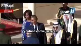 King Salman leaves Obama welcoming ceremony to pray