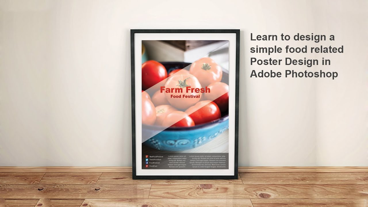 Poster design in photoshop 7 - Easy Food Poster Design Tutorial In Photoshop