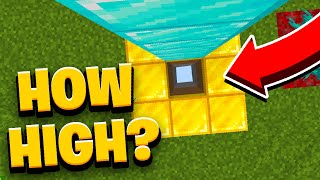 How HIGH Can You Survive in Minecraft? #Shorts