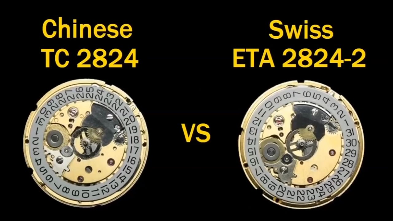 How to Create Your Own Watch Brand: Swiss ETA 2824 2 Vs Chinese TC 2824  Watch Movements