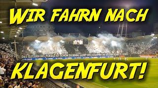 WIR FAHRN NACH KLAGENFURT! 🖤 | SK Sturm Graz - SK Rapid Wien 3:2 - 18.04.2018, ÖFB-Cup 2017/18
