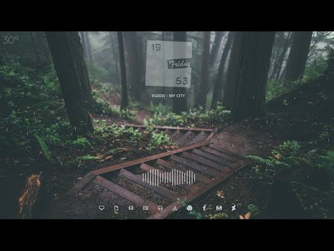 Elegant Theme For Windows PC With Live Rain Effect - 2018