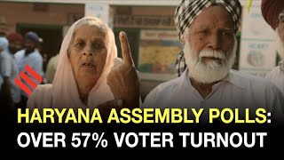 Haryana Assembly polls: Over 57% voter turnout recorded