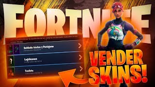 HOW TO SELL YOUR SKINS IN FORTNITE:Battle Royale ON PC!!