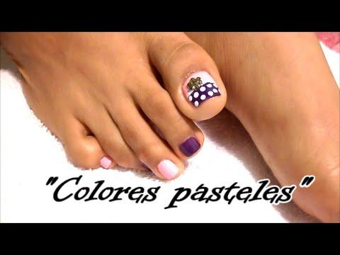Paso A Paso Decoración De Uñas Para Los Pies Colores Pastelestoe