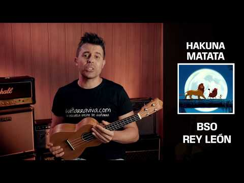 Hakuna Matata UKULELE chords lesson from The Lion King Easy Lesson