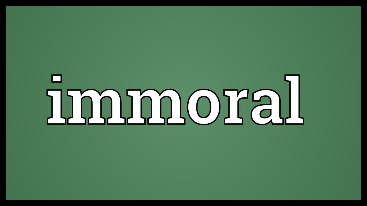 Immoral 41
