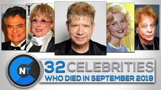 List of Celebrities Who Died In SEPTEMBER 2019 | Latest Celebrity News 2019(Celebrity Breaking News)