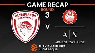 Highlights: Olympiacos Piraeus - AX Armani Exchange Olimpia Milan