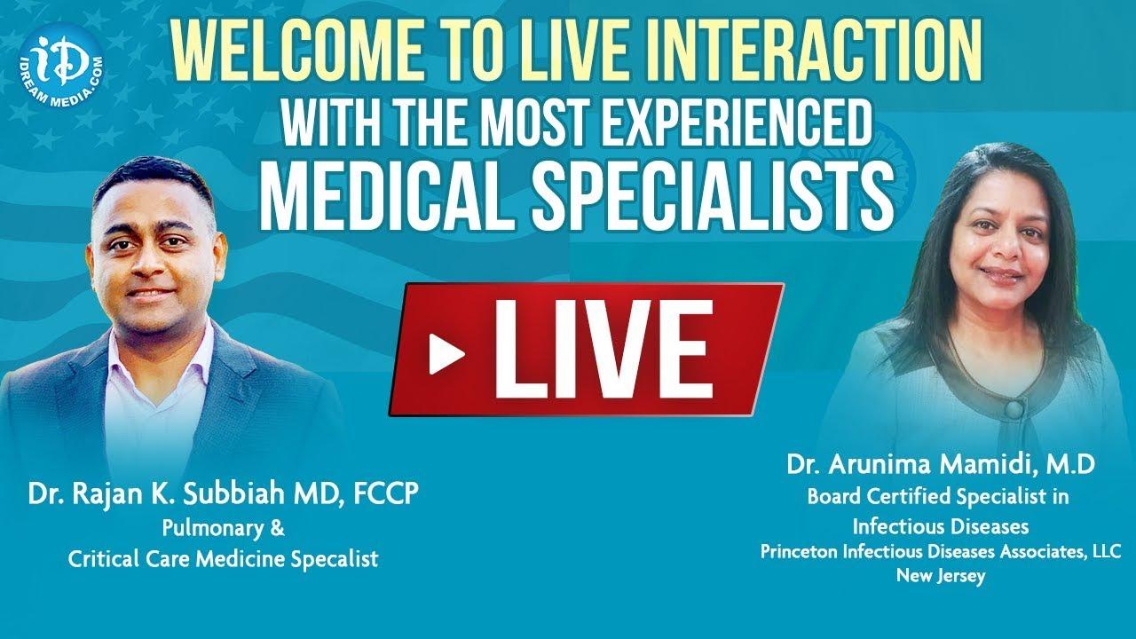 LIVE Q&A On #COVID19 With Dr. Rajan K. Subbiah (MD) & Dr. Arunima Mamidi (MD) |#Coronavirus
