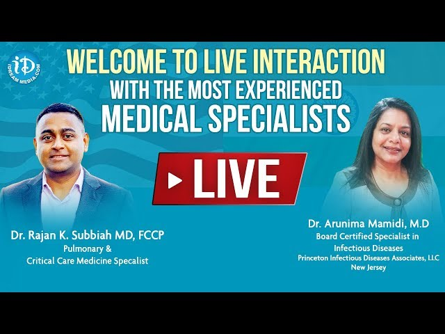 LIVE Q&A On #COVID19 With Dr. Rajan K. Subbiah (MD) & Dr. Arunima Mamidi (MD) |#Coronavirus