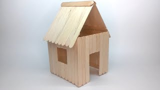 How to make a Popsicle Stick House easy