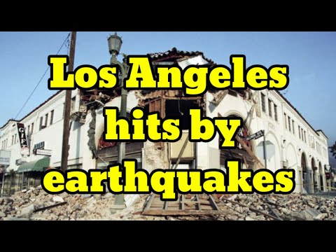 Earthquake strikes in Los Angeles, California