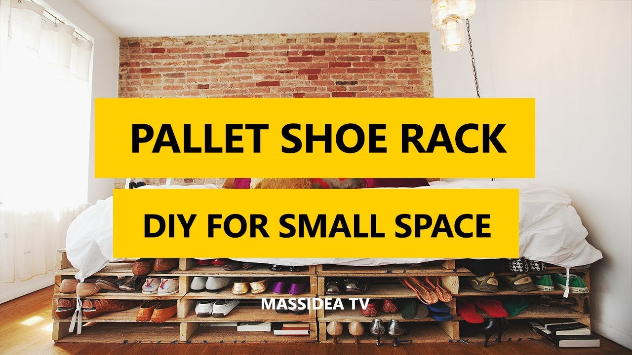 45+ Creative Pallet Shoe Rack DIY for Small Space 2017 - YouTube
