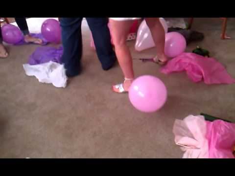 Balloon Pop at About to Pop Baby Shower