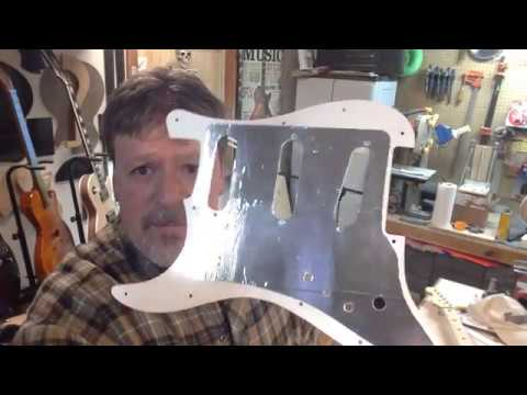 "Boudreau Guitars - Assembling ""Ash 2"" Part 3 shielding the pickguard & body"