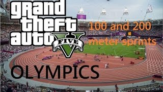 GTA 5 Olympics: 100m and 200m Event