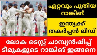 WORLD TEST CHAMPIONSHIP RANKING | POINT TABLE | CRICKET NEWS MALAYALAM