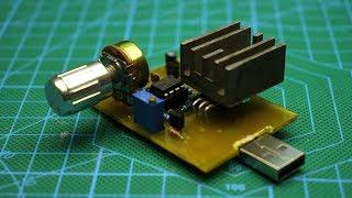 Как узнать емкость аккумулятора? USB электронная нагрузка своими руками.