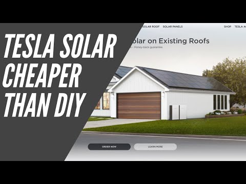 Tesla Solar Panels CHEAPER than a DIY Install