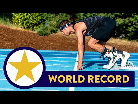NEW 100 METER WORLD RECORD!!! (in Ski Boots)