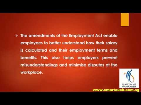Payslip from Payroll Singapore : Employment Act - Amendments to the Employment Act