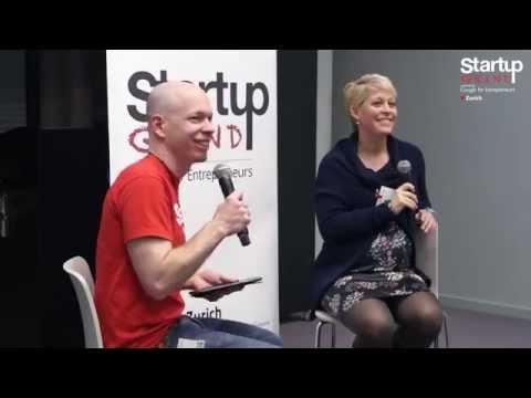 Valérie Vuillerat (Ginetta)at Startup Grind Zurich, w/ David Butler