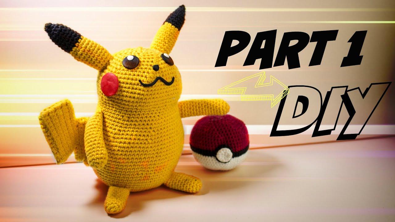 Pikachu Groß Häkelanleitung Amigurumi Diy Part 1 Youtube