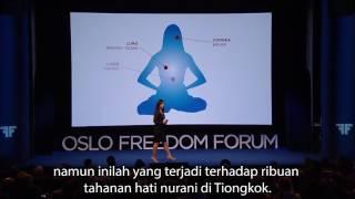 Anastasia Lin Speech at Oslo Freedom Forum (Bahasa Indonesia Subtitle)