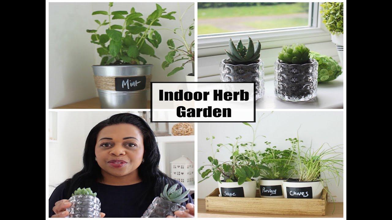 DIY How to make an Indoor Herb Garden YouTube
