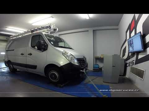 Renault Master 2.3 dci 100cv Reprogrammation Moteur @ 154cv Digiservices Paris 77 Dyno