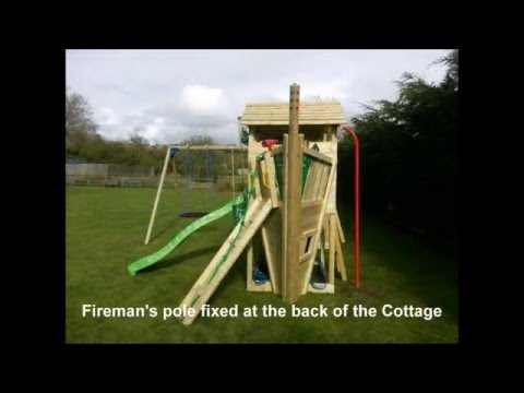 Jungle Gym climbing frame, big combo installation step by step