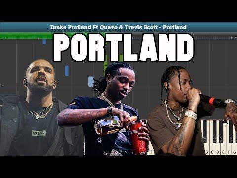 Portland Piano Tutorial - Free Sheet Music  (Drake Ft. Quavo & Travis Scott)