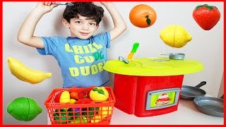 Fruits and Vegetables Velcro Cutting Food Toy Kitchen