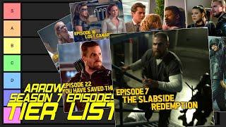 Arrow Season 7 Episodes Tier List