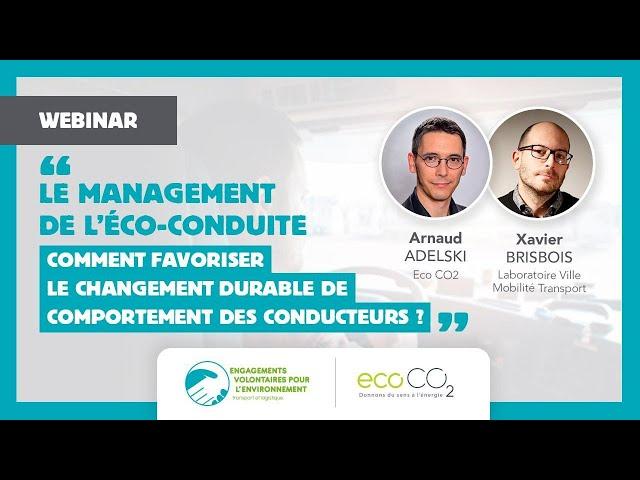 Webinar EVE Eco-conduite : favoriser le changement durable de comportement des conducteurs ?